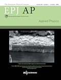 The European Physical Journal Applied Physics (EPJ AP) Cover page